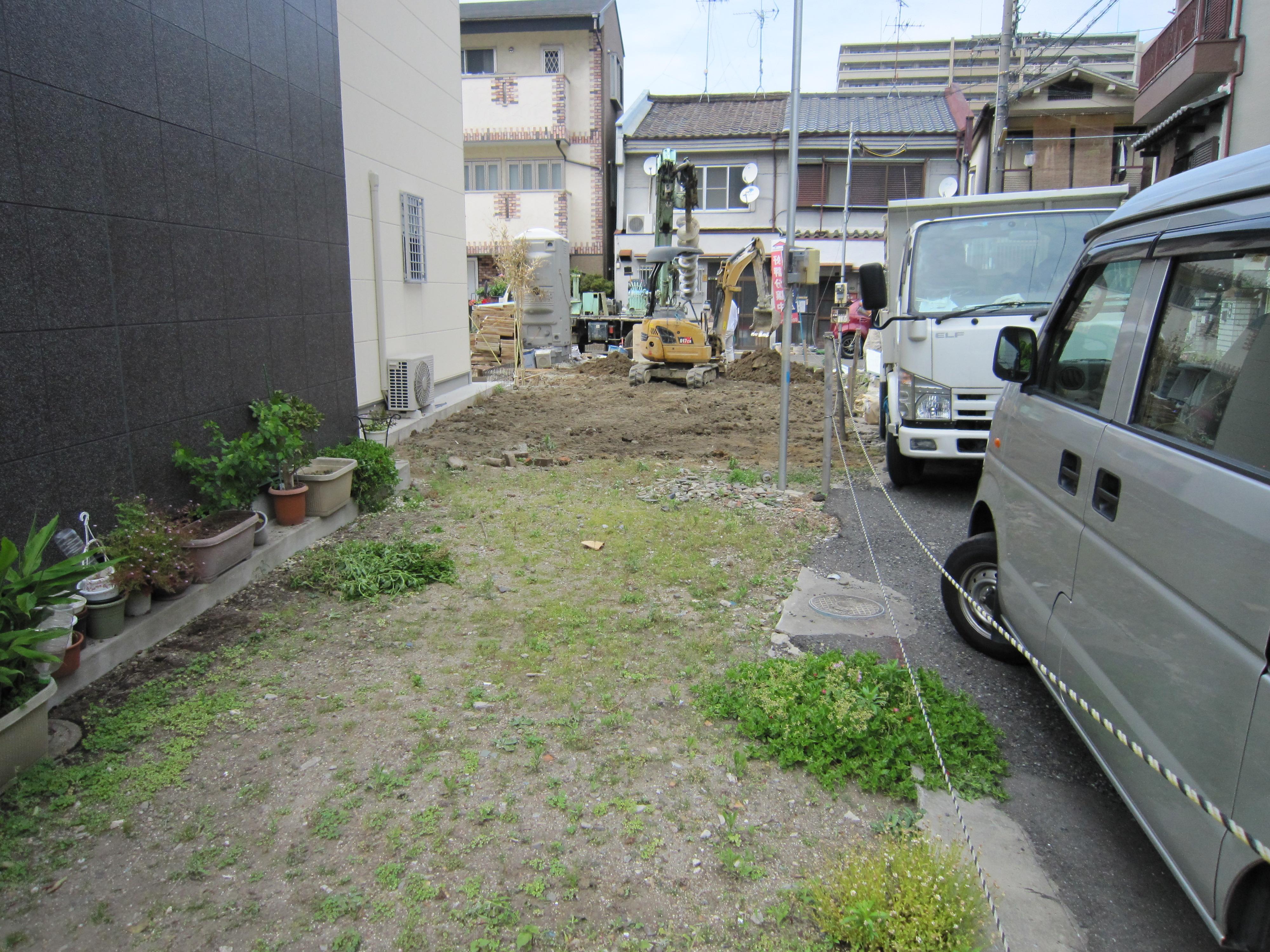 大阪市城東区 狭小住宅地盤改良工事