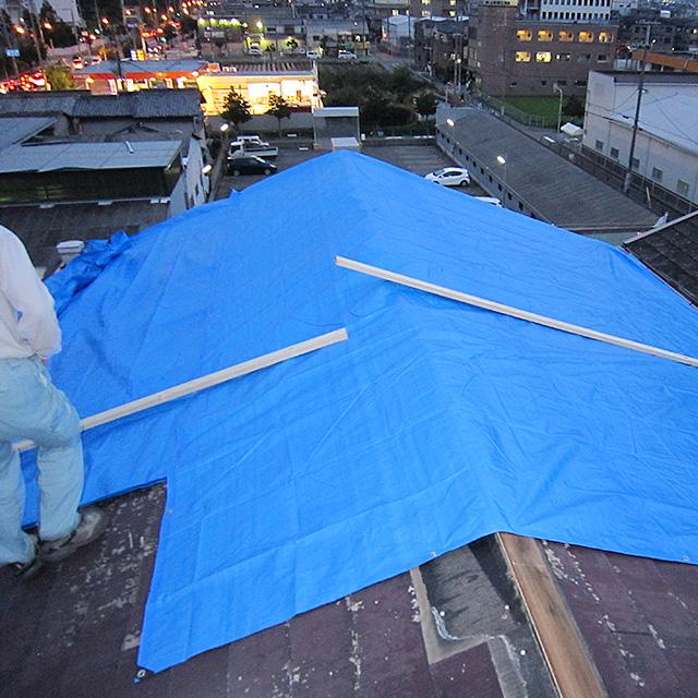台風21号修繕工事